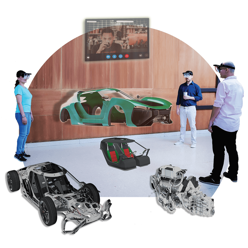 Collaborate With Colleagues Using Holoboard Mixed Reality Headset