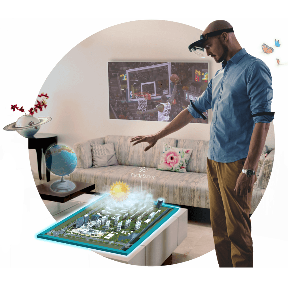 Augmented Reality Experience With Holoboard Mixed Reality Headset