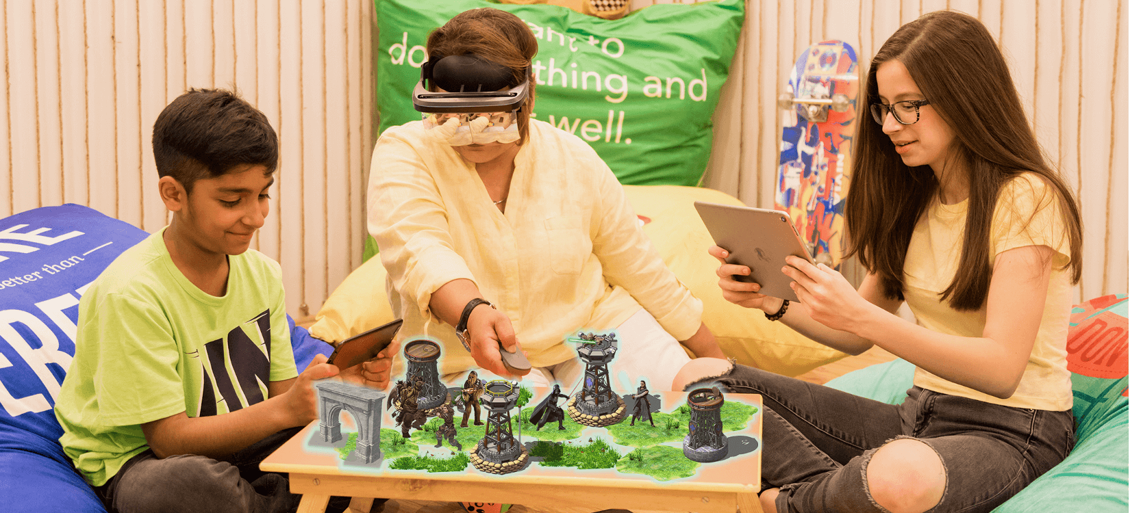 Collaborate and Play Games in Augmented Reality Using Holoboard Mixed Reality Headset