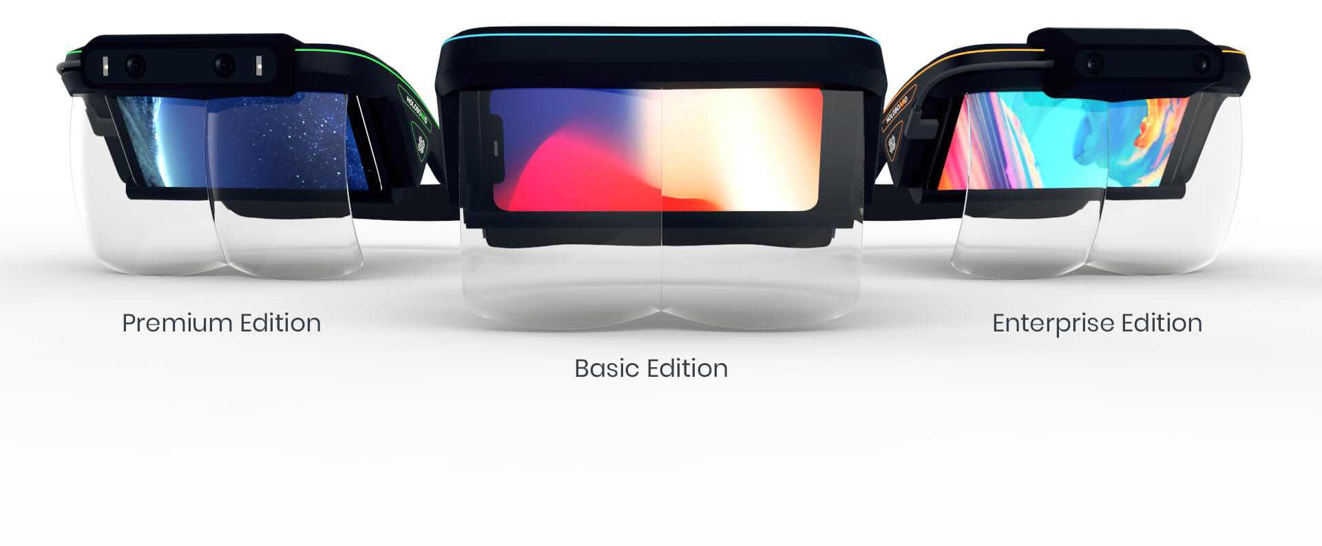 Versions of Holoboard Mixed Reality Headset